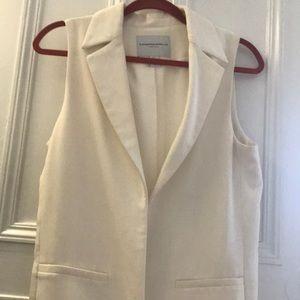 White professional vest